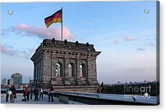 Berlin - Reichstag Roof - No.09 Acrylic Print by Gregory Dyer
