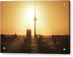 Berlin - Skyline Sunrise Acrylic Print