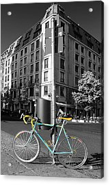 Berlin Street View With Bianchi Bike Acrylic Print