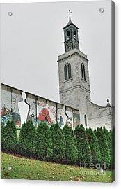 Berlin Wall Segment Acrylic Print by David Bearden