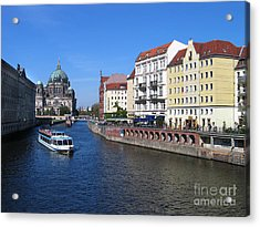 Berliner Dom And Nikolaiviertel Acrylic Print