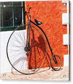 Acrylic Print featuring the photograph Bermuda Antique Bicycle by Verena Matthew