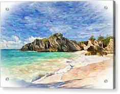Bermuda Beach Acrylic Print by Verena Matthew