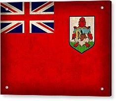 Bermuda Flag Vintage Distressed Finish Acrylic Print by Design Turnpike