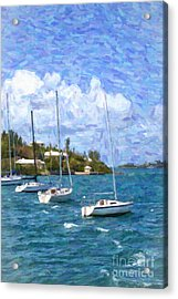 Acrylic Print featuring the photograph Bermuda Sailboats by Verena Matthew
