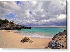 Bermuda Secret Beach Acrylic Print by Charline Xia