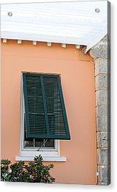 Bermuda Shutters Acrylic Print by Ian  MacDonald