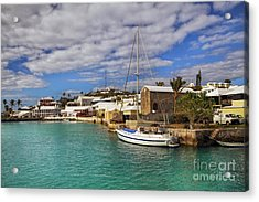 Bermuda St George Harbour Acrylic Print by Charline Xia