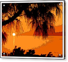 Acrylic Print featuring the photograph Bermuda Sunset by Mariarosa Rockefeller