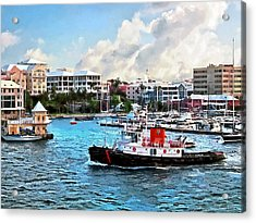 Bermuda - Tugboat Going Into Hamilton Harbour Acrylic Print