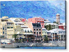 Acrylic Print featuring the photograph Bermuda Waterfront by Verena Matthew