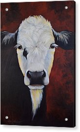 Acrylic Print featuring the painting Bernice by Cheri Wollenberg