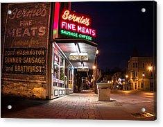 Bernies Fine Meats Signage Acrylic Print