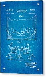 Berninger Reprojecting Ball Bumper 2 Patent Art 1967 Blueprint Acrylic Print by Ian Monk