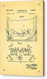 Berninger Reprojecting Ball Bumper 2 Patent Art 1967 Acrylic Print