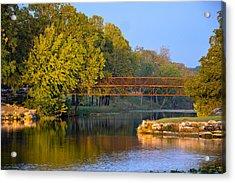 Berry Creek Bridge Acrylic Print by John Johnson