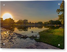 Acrylic Print featuring the photograph Berry Creek Sun Set by John Johnson