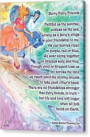 Berry Fairy Friends Poem Acrylic Print