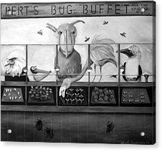 Bert's Bug Buffet Bw Acrylic Print