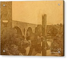 Besalu Bridge Acrylic Print
