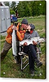Besame Mucho . Salmon Love Story. Acrylic Print