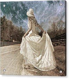 Beside Myself The Moon Acrylic Print by Betsy Knapp
