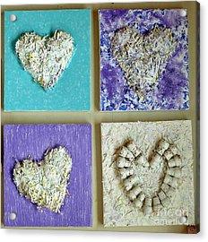 Besso Decade Hearts Acrylic Print