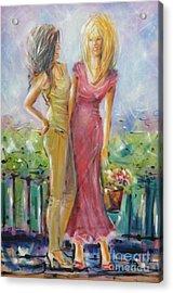 Best Friends 171008 Acrylic Print by Selena Boron