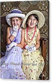 Best Friends Card Acrylic Print by Lee Craig