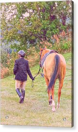 Best Friends Acrylic Print by Karol Livote
