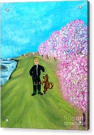Best Friends. Painting. Promotion Acrylic Print by Oksana Semenchenko