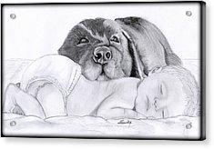 Best Friends Acrylic Print by Saki Art
