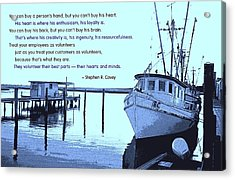 Best Parts Volunteered Acrylic Print by Mike Flynn