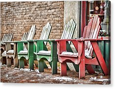 Best Seats In Town Acrylic Print by Heather Applegate