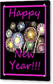 Best Wishes And Happy New Year Acrylic Print