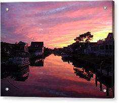 Bethany Beach Sunset Acrylic Print