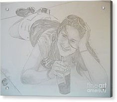 Acrylic Print featuring the drawing Bethany by Justin Moore
