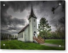 Bethany Prairie Church Acrylic Print by David Foster