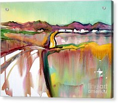 Acrylic Print featuring the painting Bethel Road by Teresa Ascone
