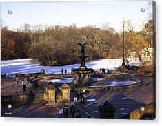 Bethesda Fountain 2013 - Central Park - Nyc Acrylic Print