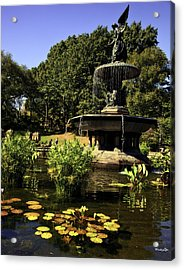 Bethesda Fountain - Central Park 2 Acrylic Print by Madeline Ellis