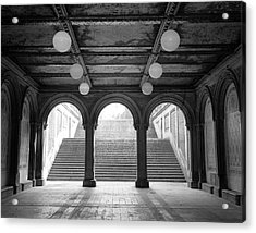 Acrylic Print featuring the photograph Bethesda Passage Central Park by Dave Beckerman