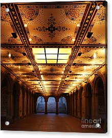 Bethesda Terrace Lower Passage Acrylic Print by Lee Dos Santos
