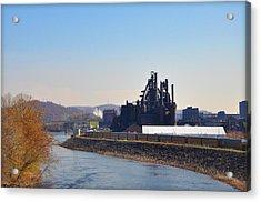 Bethlehem Steel And The Lehigh River Acrylic Print