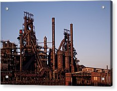 Bethlehem Steel At Sunset Acrylic Print