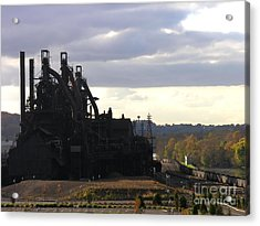 Bethlehem Steel On The Lehigh River Acrylic Print by Jacqueline M Lewis