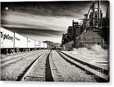 Bethlehem Steel Tracks Acrylic Print