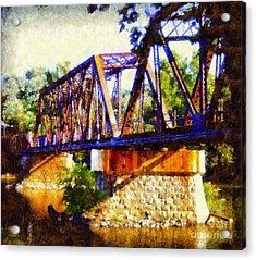 Train Trestle Bridge Acrylic Print by Janine Riley