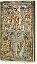 Betrayal And Flagellation Acrylic Print by British Library