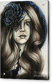 Acrylic Print featuring the drawing Betrayal by Sheena Pike